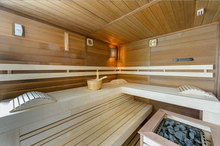 saune vu de l'intérieur