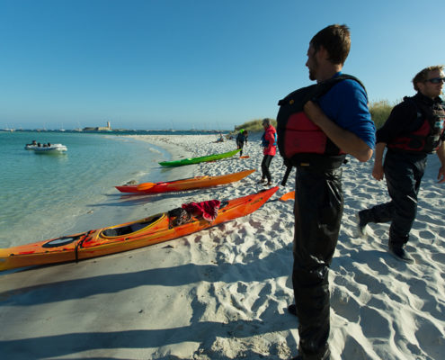 évasion en kayak aux glénan
